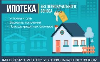 Как получить ипотеку без первоначального взноса – все способы получения профессиональная помощь в оформлении кредита