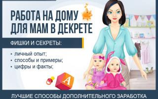 Работа на дому для мам в декрете — обзор ТОП-10 популярных вакансий 2017 года для женщин без вложений, обмана и предоплаты