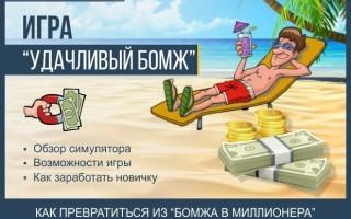 «Удачливый бомж» — полный обзор игры с выводом реальных денег и инструкция по эксплуатации онлайн симулятора + обзор способов пополнения и вывода средств