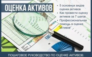 Оценка активов — пошаговая инструкция как провести оценку стоимости активов + профессиональная помощь в оценке активов