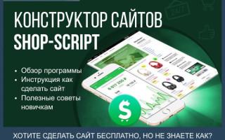 Конструктор сайтов Shop-Script — полный обзор программы для создания одностраничных сайтов и интернет-магазинов + инструкция как сделать сайт бесплатно за 4 шага