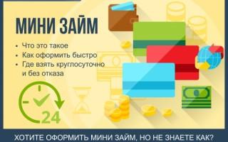 Как взять мини займ на карту за 5 минут — пошаговая инструкция для новичков + обзор компаний по предоставлению мини займов онлайн