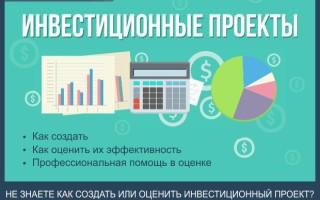 Инвестиционные проекты — 5 шагов как оценить их эффективность + профессиональная помощь в оценке инвестиционной деятельности