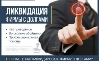 Ликвидация фирмы с долгами — 6 основных этапов по закрытию фирмы + профессиональная помощь в ликвидации фирмы