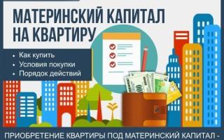 Как купить квартиру на материнский капитал – практическая помощь + 3 способа приобретения квартиры на средства мат капитала