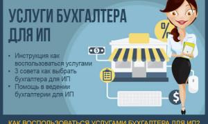 Услуги бухгалтера для ИП — инструкция по получению бухгалтерских услуг для индивидуального предпринимателя + 3 полезных совета по выбору бухгалтера для ИП