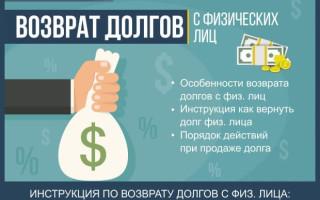 Возврат долгов с физических лиц — инструкция как вернуть долг за 7 шагов + порядок действий при продаже долга