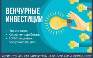 Венчурные инвестиции — что это такое и как на них заработать + обзор ТОП-7 надежных венчурных фондов в России