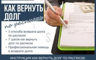 Как вернуть долг по расписке — инструкция по возврату долга через суд за 7 шагов + профессиональная помощь в возврате долга по расписке