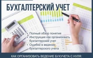 Бухгалтерский учет — инструкция как организовать бухучет с нуля + профессиональная помощь в ведении бухгалтерского учета