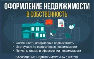 Оформление недвижимости — как оформить недвижимость в собственность за 5 шагов: инструкция для новичков + причины отказа в оформлении
