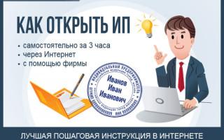 Как открыть и зарегистрировать ИП за 3 часа — пошаговая инструкция по самостоятельной регистрации индивидуального предпринимательства от практика + формы документов и наглядные примеры