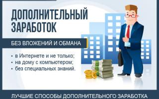 Дополнительный доход в свободное время — обзор ТОП-10 способов заработка на дому в интернете + идеи и варианты без вложений для новичков