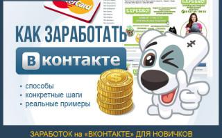 Как заработать ВКонтакте (VK.com) – пошаговое руководство для новичков + обзор популярных сервисов по заработку в социальной сети ВК с наглядными примерами