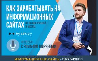 Как зарабатывать на информационных сайтах — интервью с Романом Ширяевым, основателем компании Binet.PRO