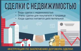 Сделки с недвижимостью — как заключить договор по сделкам с недвижимостью: пошаговая инструкция для новичков + профессиональная помощь при заключении сделок