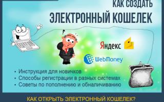 Как создать электронный кошелек Яндекс, Киви и Webmoney – как ими пользоваться