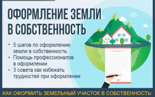 Оформление земли в собственность — пошаговая инструкция по оформлению земельного участка + помощь профессионалов в оформлении земли в собственность