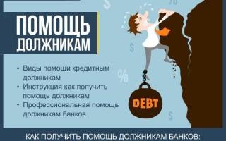 Помощь должникам — инструкция как получить помощь должнику по кредиту за 5 шагов + советы как действовать, если нечем платить кредит
