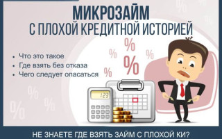 Микрозайм с плохой кредитной историей — 5 шагов получения займа без проверки + обзор ТОП-5 компаний по предоставлению микрозаймов без отказа